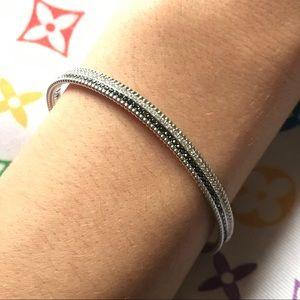 Swarovski Crystal Silver Cuff Bracelet